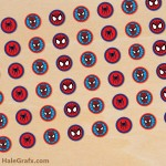 FREE Printable Spider-man Hershey's Kisses Stickers