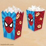 FREE Printable Spider-man Popcorn Box
