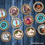 FREE Printable Moana Cupcake Toppers