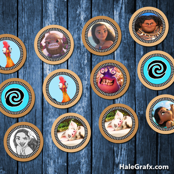 photo regarding Printable Moana named Absolutely free Printable Moana Cupcake Toppers