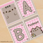 FREE Printable Pusheen Alphabet Banner Pack
