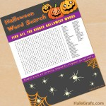 FREE Printable Halloween Word Search