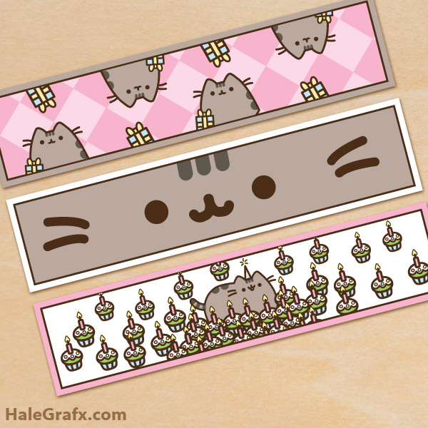 photograph about Pusheen Printable named Cost-free Printable Pusheen H2o Bottle Labels