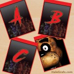 FREE Printable Five Nights at Freddy's Alphabet Banner Pack