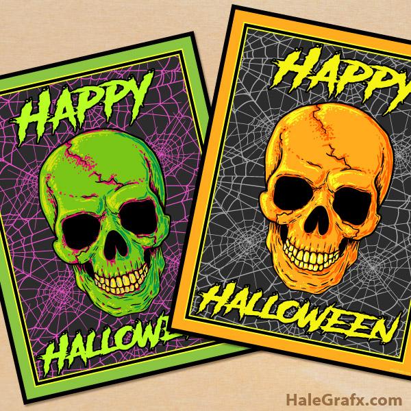 FREE Printable Halloween Skull Posters