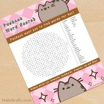 FREE Printable Pusheen Word Search