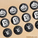 FREE Printable Chalk Halloween Cupcake Toppers