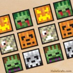 FREE Printable Halloween Minecraft Cupcake Toppers