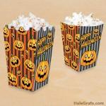 FREE Printable Halloween Jack-o-lantern Popcorn Box