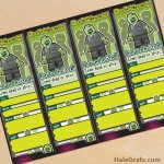 FREE Printable LEGO Zombie Ticket Invitations