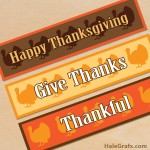 FREE Printable Thanksgiving Turkey Water Bottle Labels