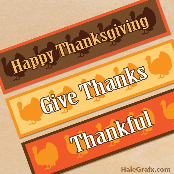 FREE Printable Thanksgiving Turkey Water Bottle Labels