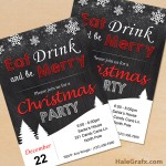 FREE Printable Christmas Chalk Party Invitation