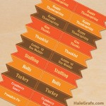 FREE Printable Thanksgiving Themed Toothpick flags