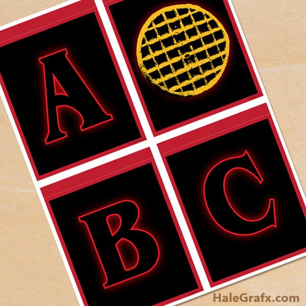 FREE Printable Stranger Things Logo Alphabet Banner Pack