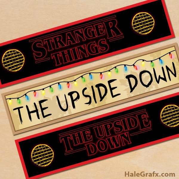 Free Printable Stranger Things Water Bottle Labels