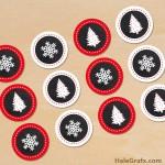 FREE Printable chalkboard Christmas Cupcake Toppers