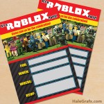 FREE Printable Roblox Party Invitation
