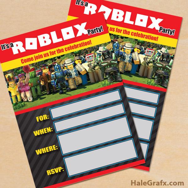 FREE Printable Roblox Party Invitation