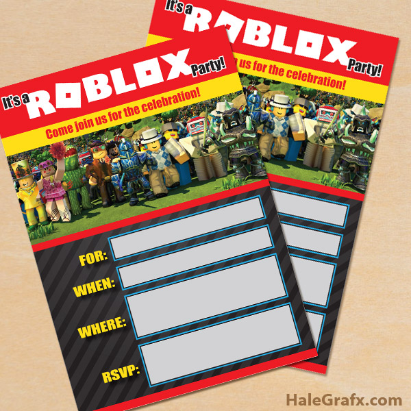 free roblox party invitations