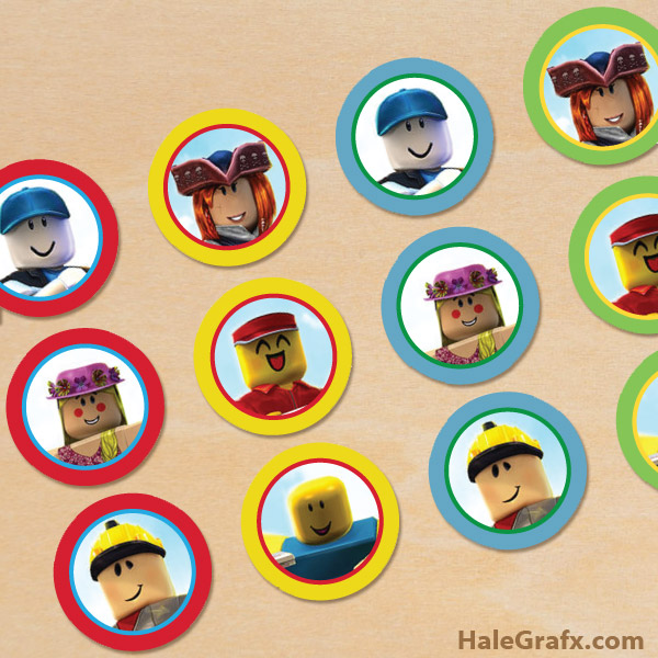 FREE Printable Roblox Cupcake Toppers