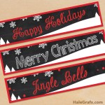 Free Printable Chalk Christmas Water Bottle Labels