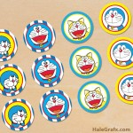 FREE Printable Doraemon Cupcake Toppers