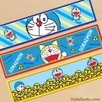 Free Printable Doraemon Water Bottle Labels