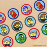 FREE Printable Minion Avengers Cupcake Toppers