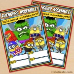 FREE Printable Minion Avengers Party Invitation