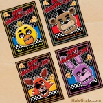 FREE Printable Five Nights at Freddy's Valentines