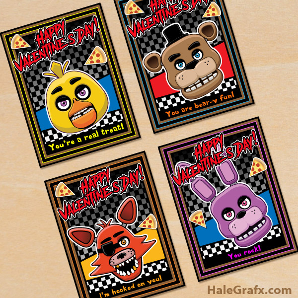 FREE Printable Five Nights At Freddys Valentines