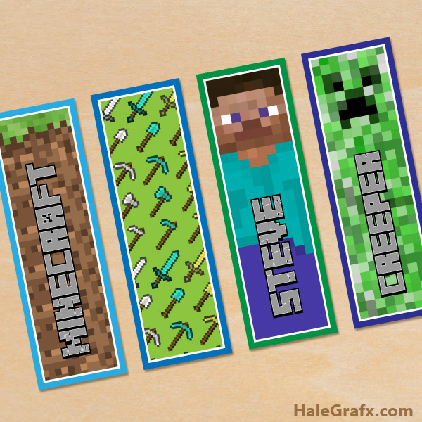 photo relating to Printable Minecraft identify Cost-free Printable Minecraft Bookmarks