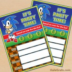 FREE Printable Sonic the Hedgehog Party Invitation