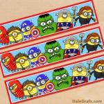 Free Printable Minion Avengers Water Bottle Labels