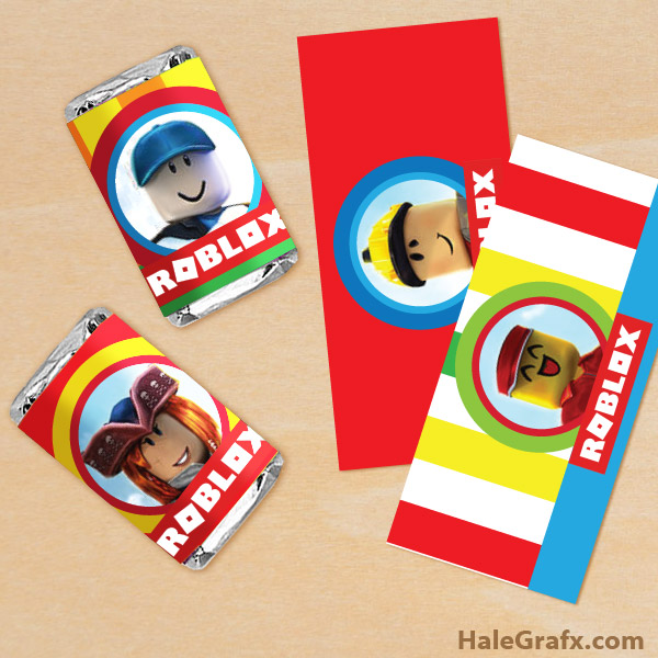 FREE Printable Roblox Mini Candy Bar Wrappers
