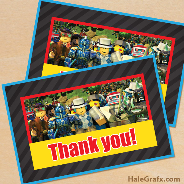 FREE Printable Roblox Thank You Card