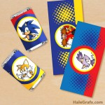 FREE Printable Sonic the Hedgehog Mini Candy Bar Wrappers