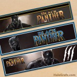 Free Printable Marvel Black Panther Water Bottle Labels