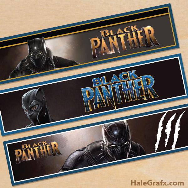 Free Printable Black Panther Water Bottle Labels