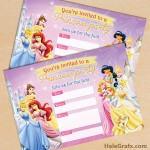 FREE Printable Disney Princesses Party Invitation