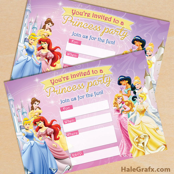 picture regarding Disney Princess Birthday Invitations Free Printable identify Totally free Printable Disney Princesses Occasion Invitation
