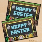FREE Printable Minecraft Easter Greeting Card