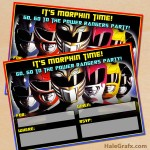 FREE Printable Power Rangers Party Invitation