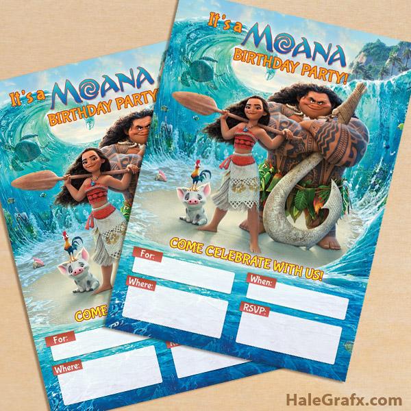 FREE Printable Disney Moana Party Invitation