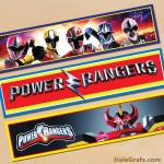 Free Printable Power Rangers Water Bottle Labels