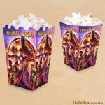 FREE Printable Avengers Infinity War Popcorn Box