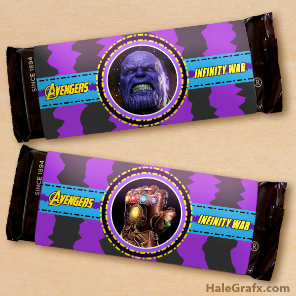 FREE Printable Avengers Infinity War Candy Bar Wrappers