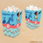 FREE Printable Moana Popcorn Box