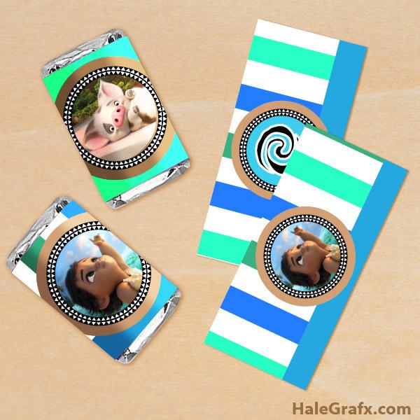 FREE Printable Moana Mini Candy Bar Wrappers